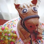 Лошадка получилась лобастая.