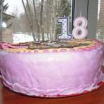 Высота торта.