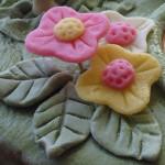 Цветы из марципана.