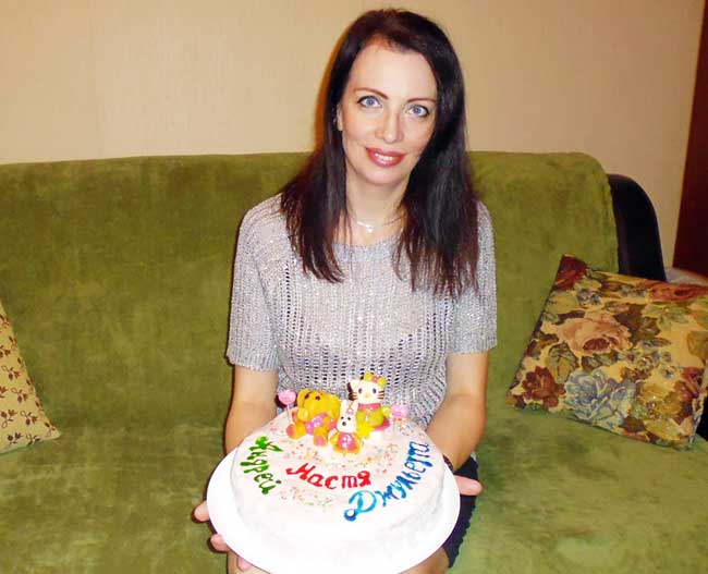 Мама сделала тортик.