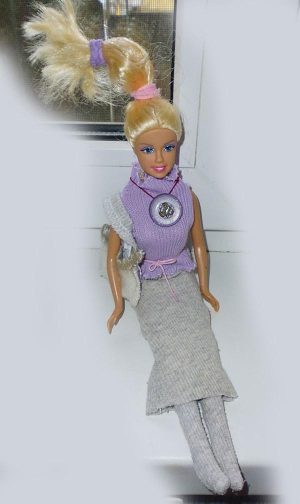 Фиолетовое украшение.